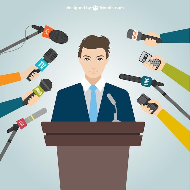 Conférence Politique Vecteur gratuit