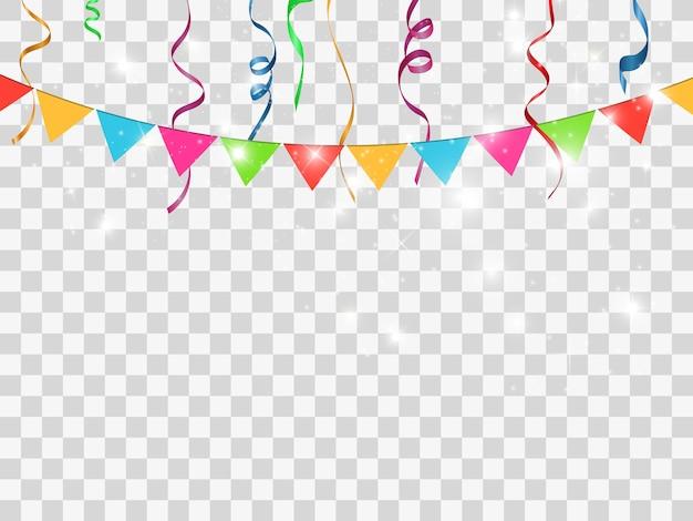 Confettis Colorés Isolés. Contexte Festif Vecteur Premium