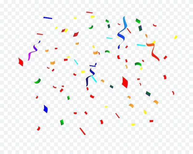 Confettis De Fête D'anniversaire Isolés Vecteur Premium