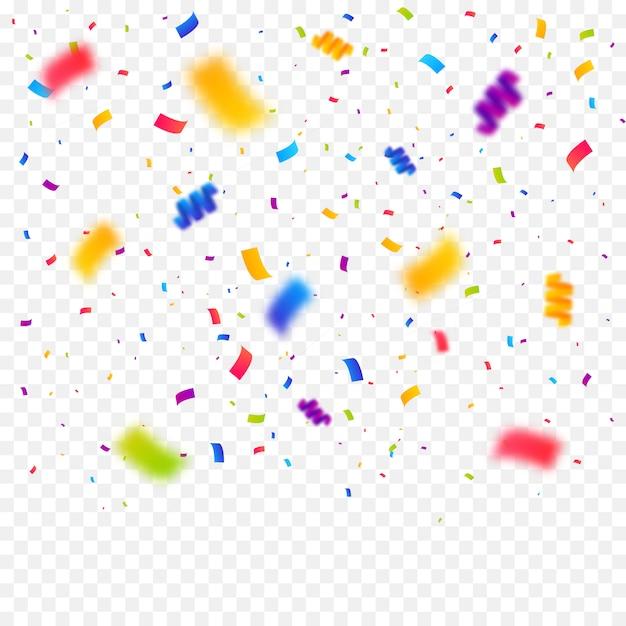 Confettis Multicolores Fond éclaté Vecteur Premium