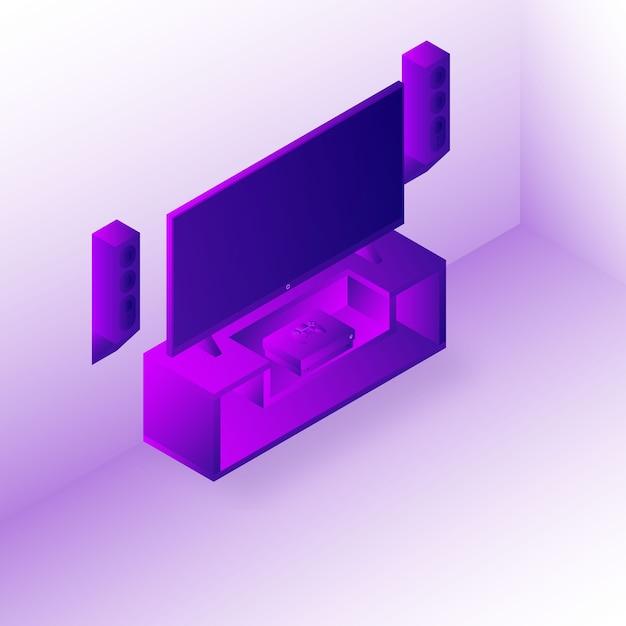 Configuration de la console de jeu Vecteur Premium