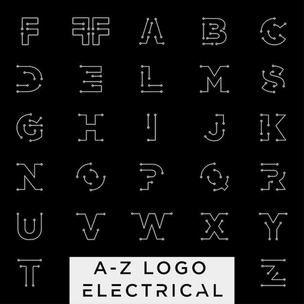 Connecter ou élément d'icône az électrique isolé Vecteur Premium