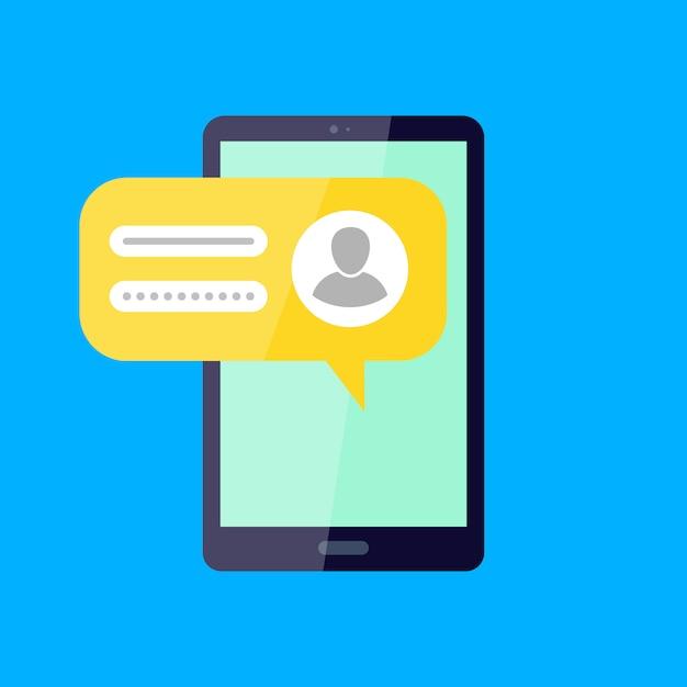Connectez-vous à Votre Compte Réseau Social Login, Mot De Passe Vecteur Premium