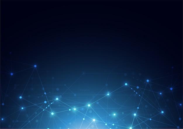 Connexion internet sens abstrait de la science Vecteur Premium