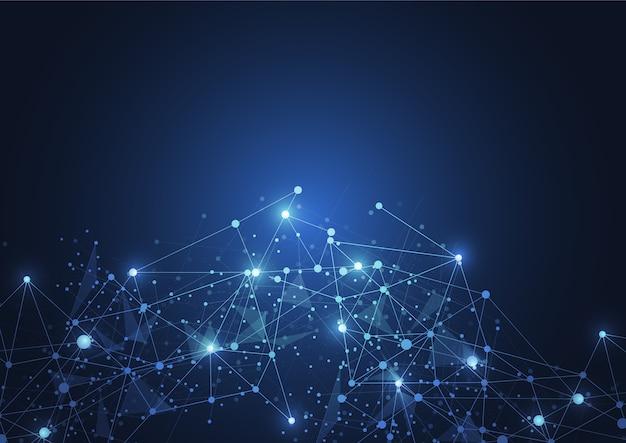 Connexion internet, sens abstrait de la science Vecteur Premium