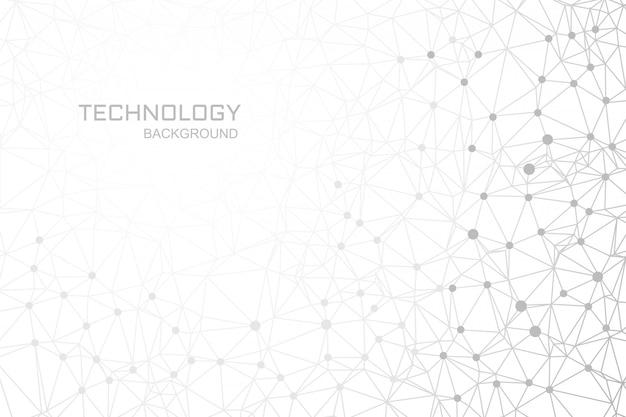 Connexion Des Lignes De Fond De Technologie Numérique Polygone Vecteur gratuit
