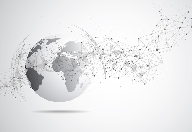 Connexion réseau globale Vecteur Premium