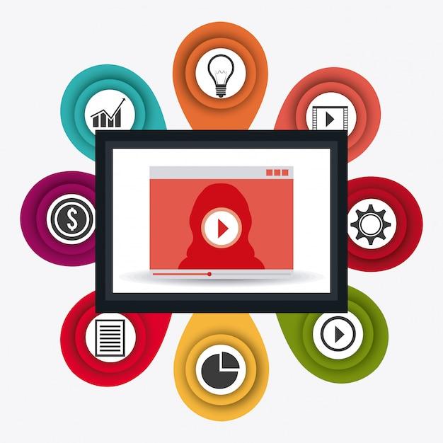 Connexions mondiales et infographie des entreprises Vecteur gratuit