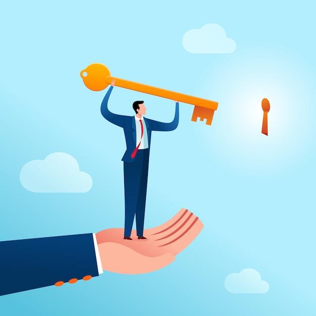 Conseil en solutions d'action commerciale Vecteur Premium