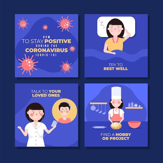 Conseils Lors D'une Pandémie De Coronavirus Vecteur gratuit