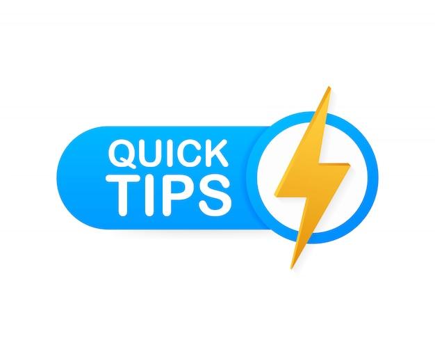 Conseils Rapides, Astuces, Astuces Utiles, Info-bulle Pour Le Site Web. Bannière Créative Avec Des Informations Utiles. Vecteur Premium