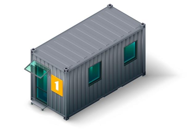 Construction De Conteneurs Modulaires Vecteur Premium