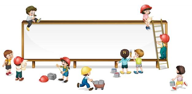 Construction Enfants Vecteur gratuit