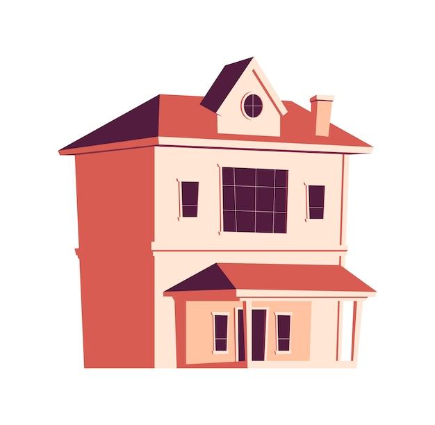 Construction De Maison, Illustration De Dessin Animé Vecteur gratuit