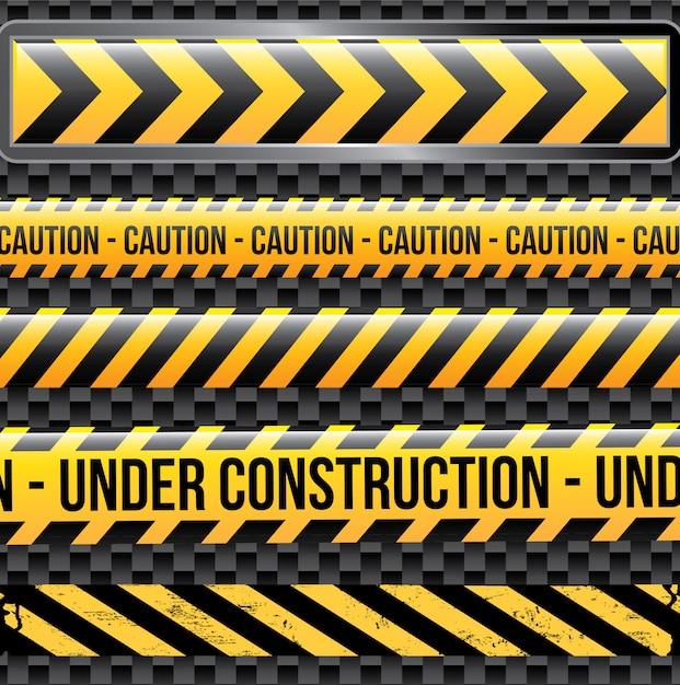 En construction Vecteur Premium