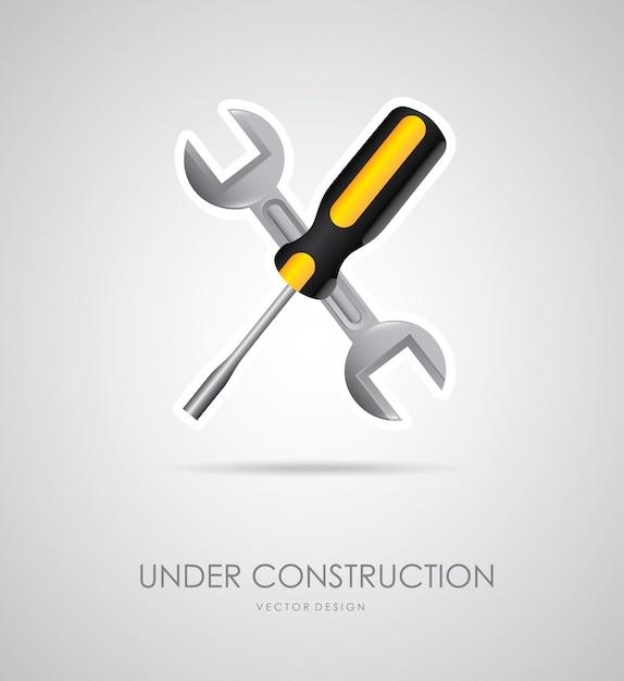 En Construction Vecteur gratuit