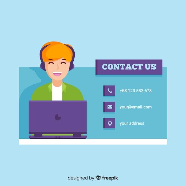 Contactez nous Vecteur gratuit
