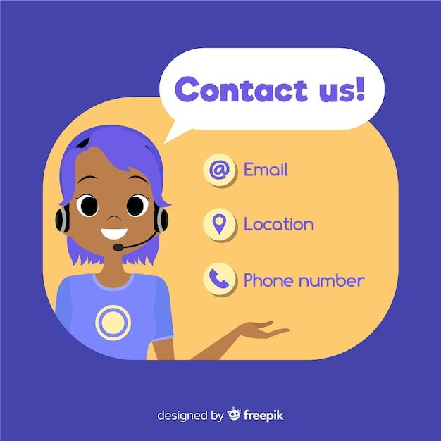 Contactez-nous Vecteur gratuit