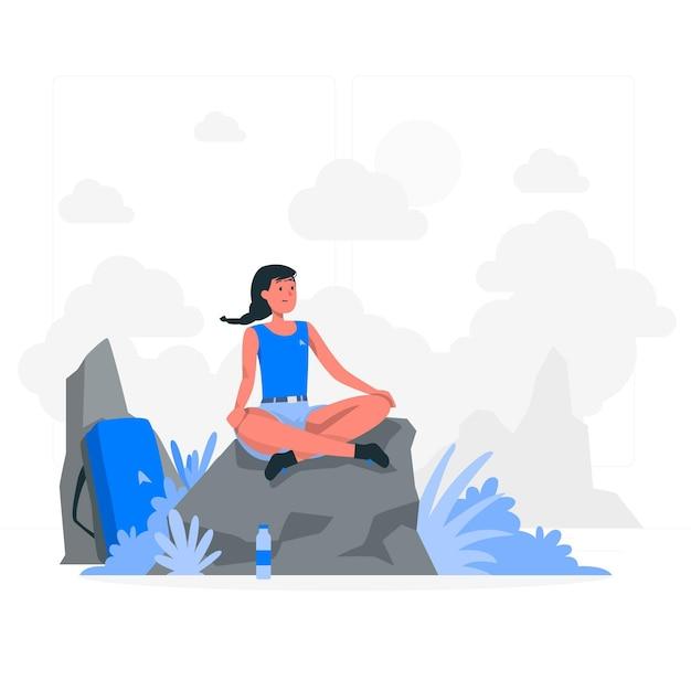 Contempler L'illustration Du Concept Vecteur gratuit