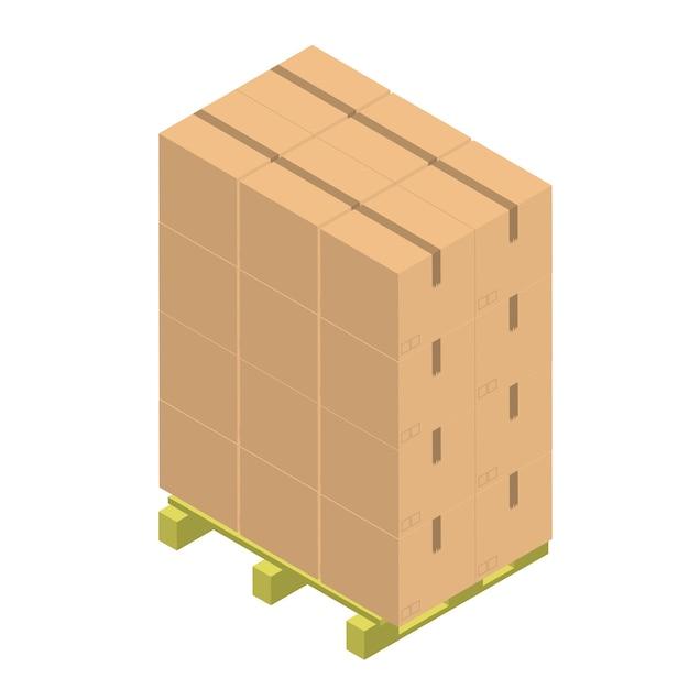 Conteneur de papier brun isolé sur fond Vecteur gratuit