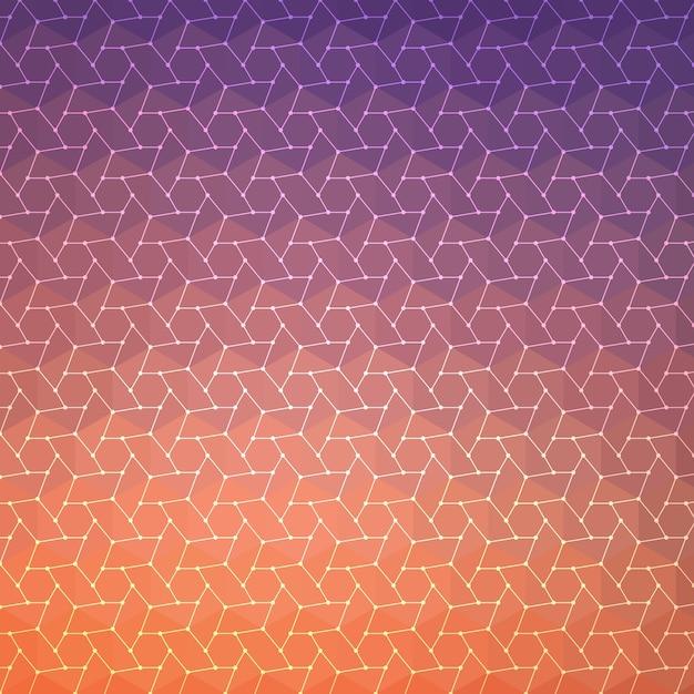 Contexte Abstrait, Design Géométrique, Illustration Vectorielle. Tesselation Géométrique De La Surface Colorée. Style De Vitraux. Flou De Couleur Abstrait. Vecteur gratuit