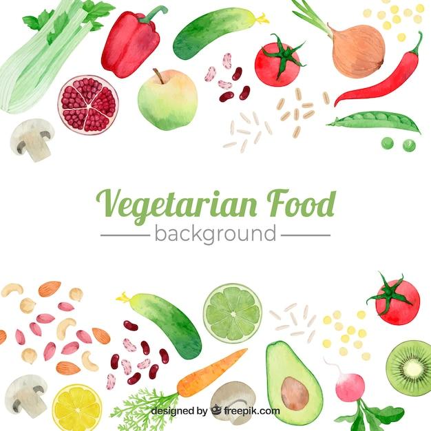 Contexte alimentaire Vecteur gratuit