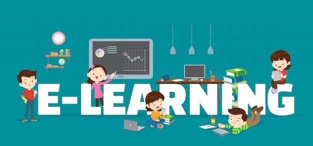 Contexte d'apprentissage Vecteur Premium