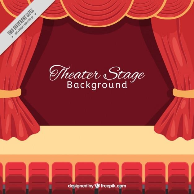 Contexte de l'auditorium en design plat Vecteur gratuit