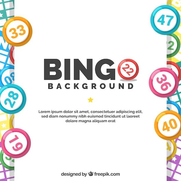 Contexte avec des balles colorées de bingo Vecteur gratuit
