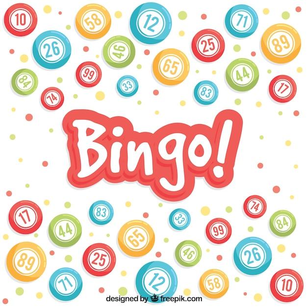Contexte de billes colorées de bingo Vecteur gratuit