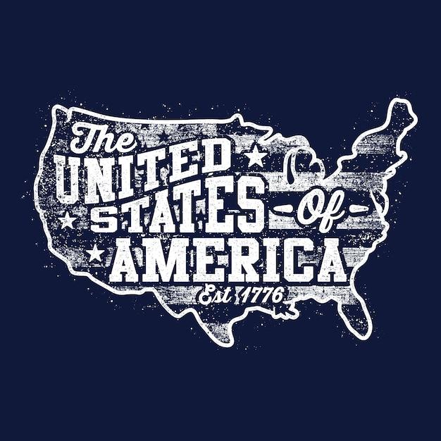 Contexte carte américaine Vecteur Premium