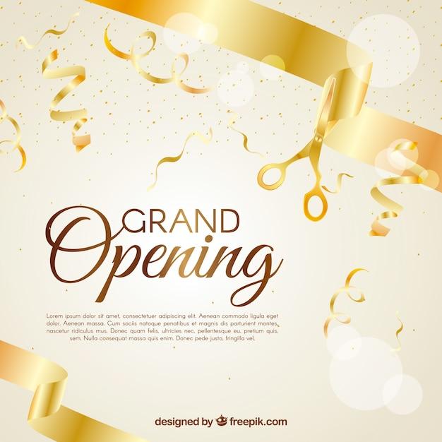 Contexte de la célébration et des rubans de confettis dorés Vecteur gratuit
