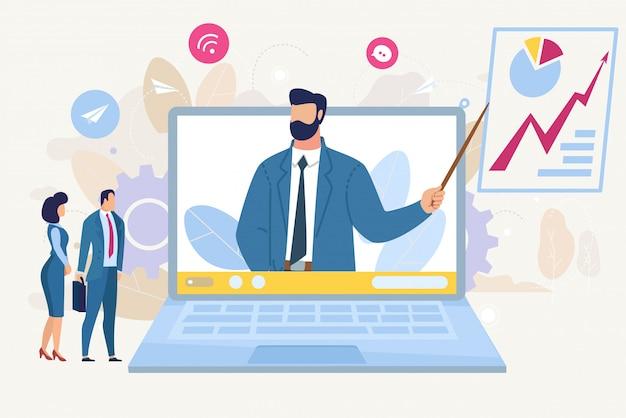 Contexte De La Consultation Business Analytics Vecteur Premium