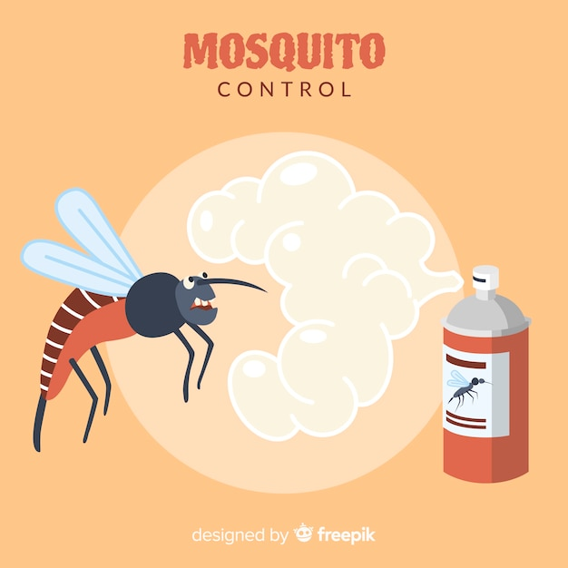 Contexte créatif de contrôle des moustiques Vecteur gratuit