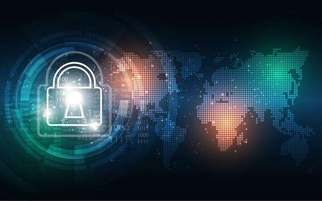 Contexte de cybersécurité Vecteur Premium