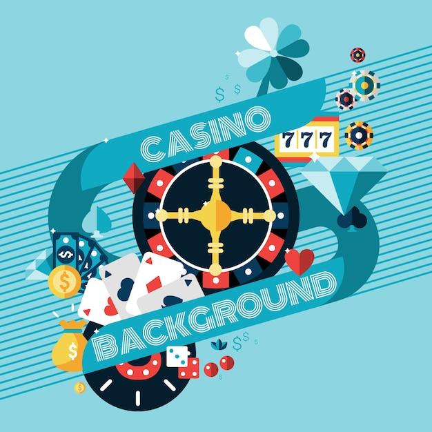 Contexte de jeu de casino Vecteur gratuit