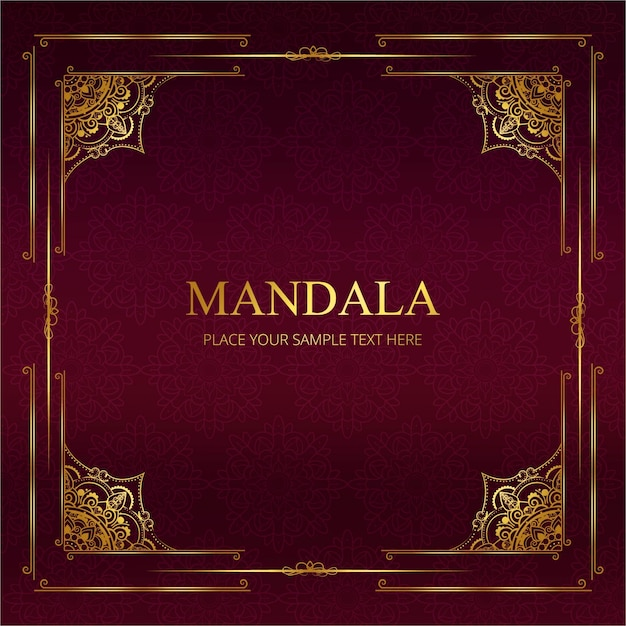 Contexte de mandala moderne Vecteur gratuit