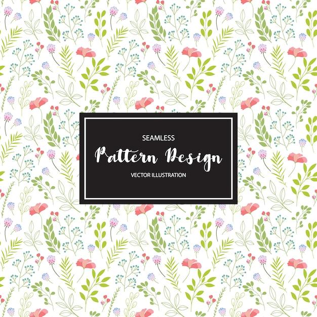 Contexte de motif floral Vecteur gratuit