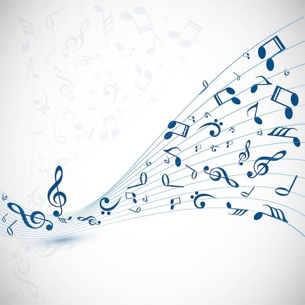 Contexte de musique moderne Vecteur gratuit