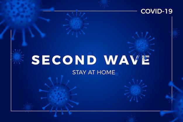 Contexte De La Deuxième Vague De Coronavirus Vecteur gratuit