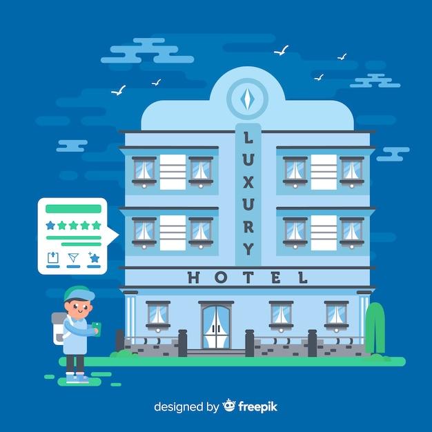Contexte du concept d'examen d'hôtel Vecteur gratuit