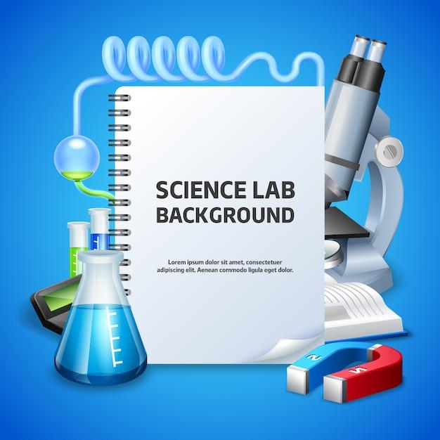 Contexte Du Laboratoire Scientifique Vecteur gratuit