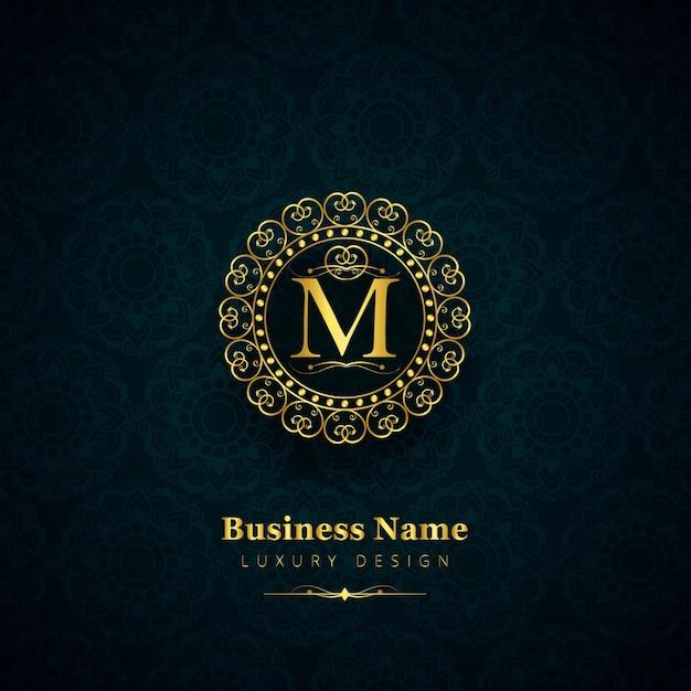 Contexte Du Logo De La Marque De Luxe Vecteur gratuit