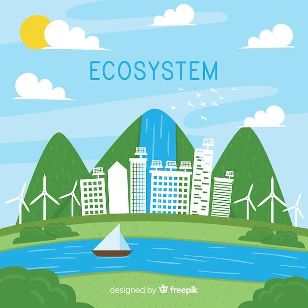 Contexte de l'écosystème Vecteur gratuit
