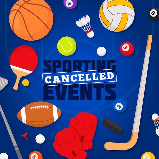 Contexte Des événements Sportifs Annulés Vecteur gratuit