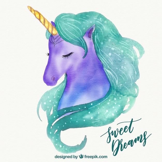 Contexte de jolie licorne unicorn avec texte