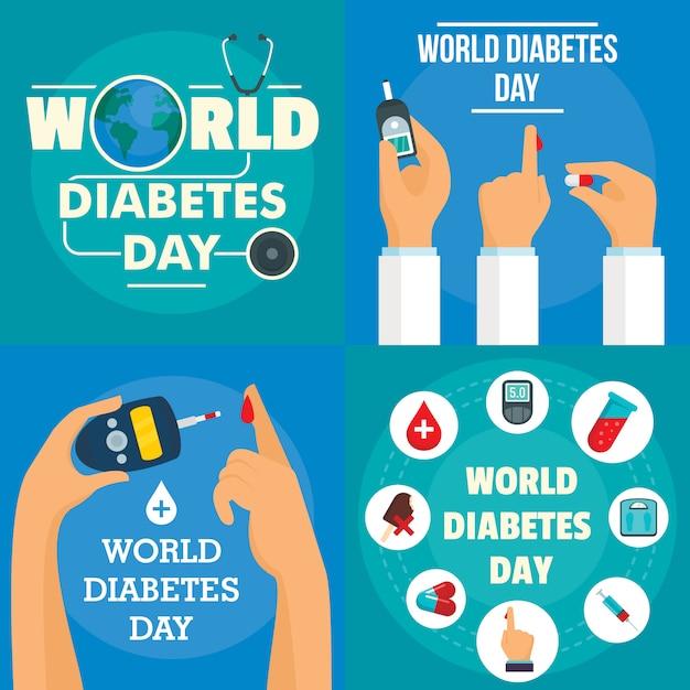 Contexte de la journée du diabète Vecteur Premium