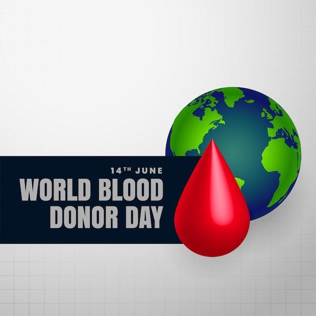 Contexte de la journée du donneur de sang Vecteur gratuit
