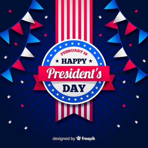 Contexte De La Journée Du Président Vecteur gratuit