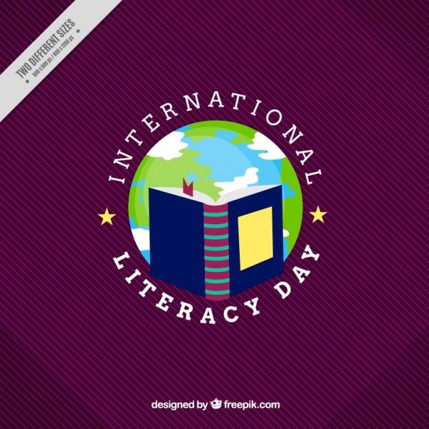 Contexte de la journée internationale de l'alphabétisation Vecteur gratuit